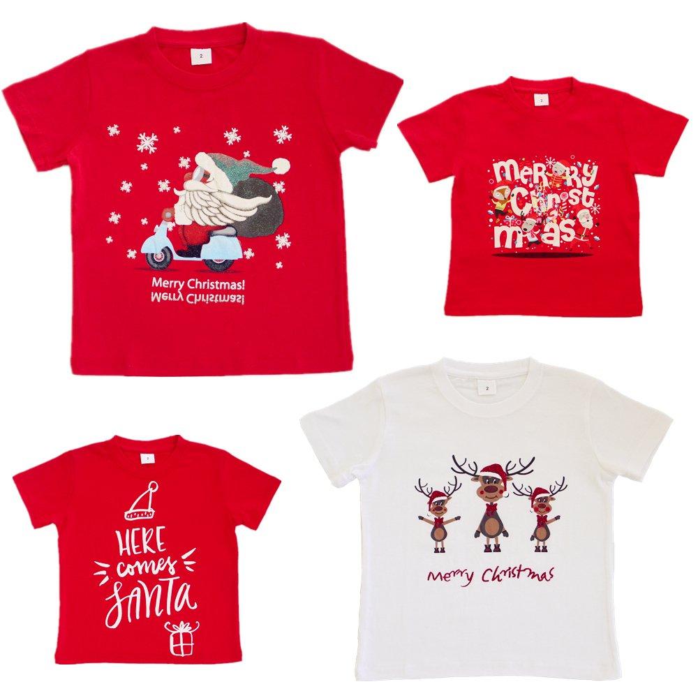 New Kids Christmas Xmas T Shirt Tee Tops 100% Cotton Boys Girls Gift ...