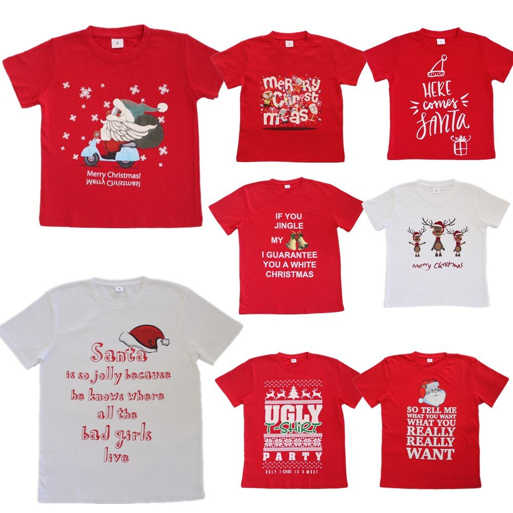 New Funny Unisex Xmas Christmas T shirt Tee Adult Kids ...