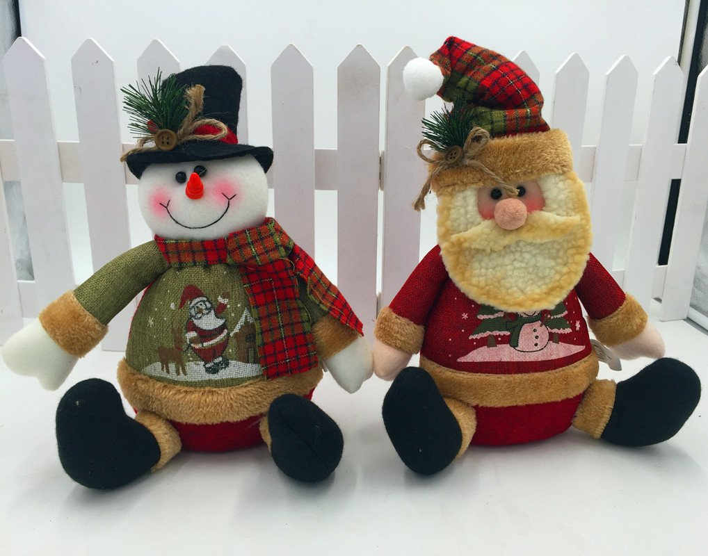 Christmas Santa Cuddly Stuffed Doll Figure Figurine Xmas