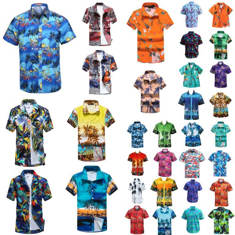 Cotton Hawaiian Shirt, New Adults Kids Cotton Hawaiian Beach Shirt Cool Dry Tropical Summer Casual Tops, Zmart Australia