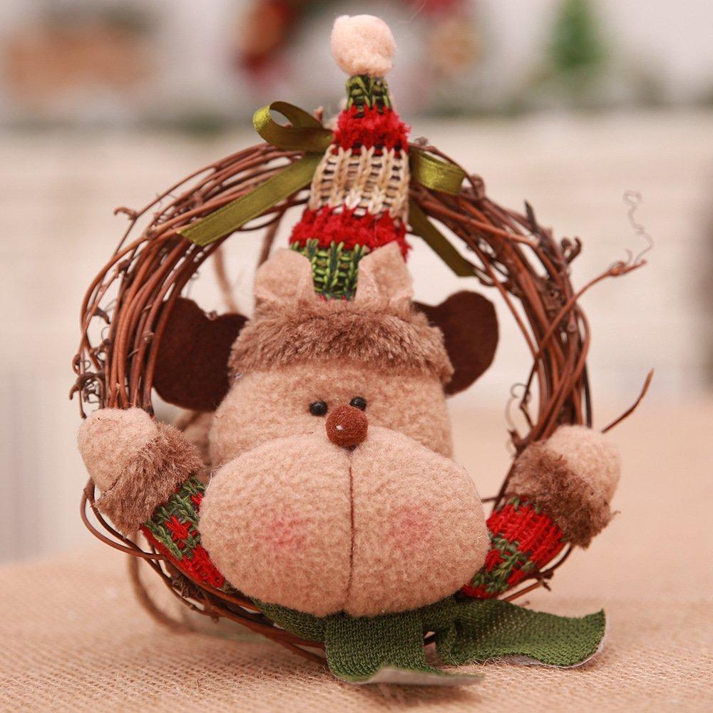 3x Christmas Tree Door Wall Hanging Wooden Wreath Garland Xmas Decor Ornament • Zmart Australia