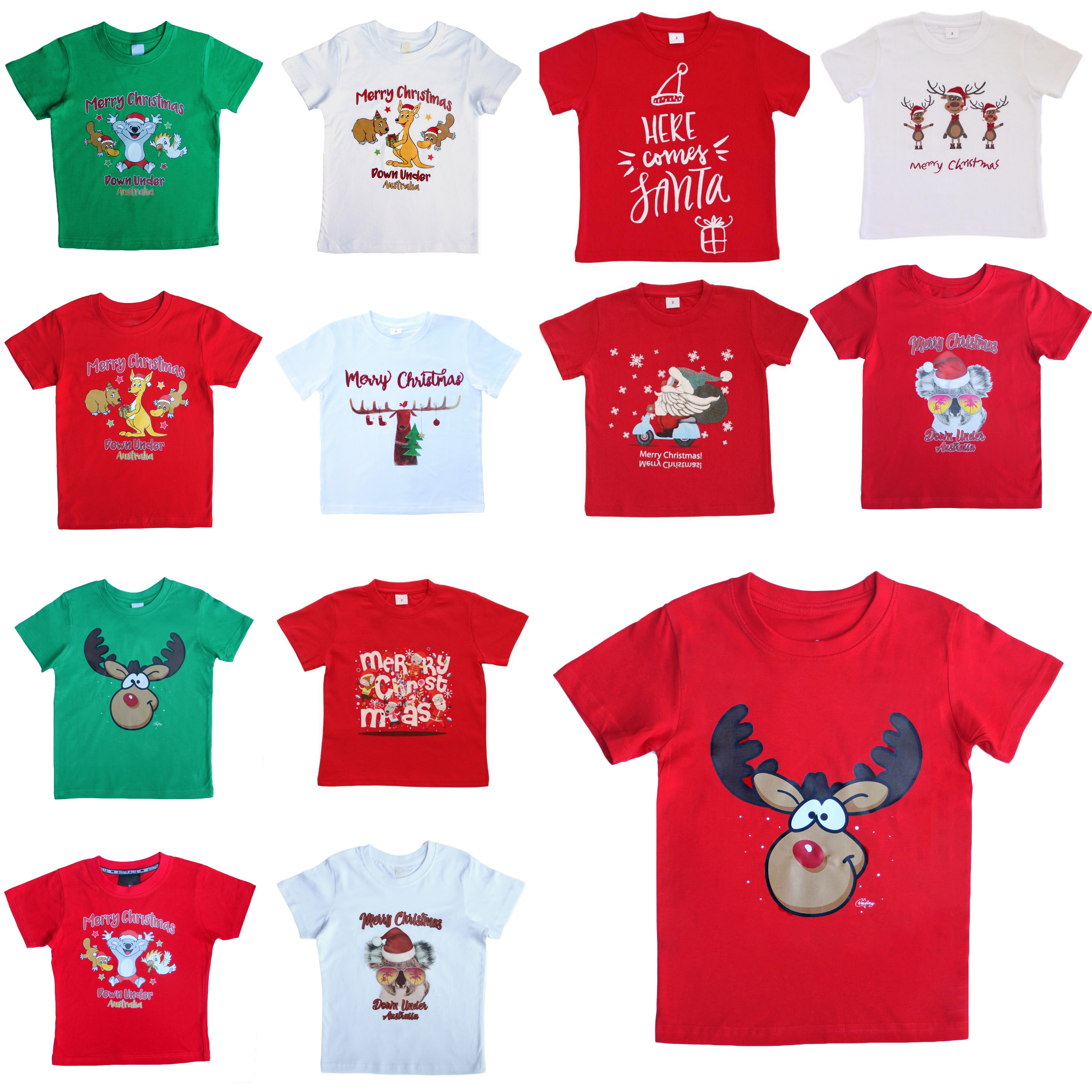 Christmas Shirt.New Kids Christmas Xmas T Shirt Tee Tops 100 Cotton Boys