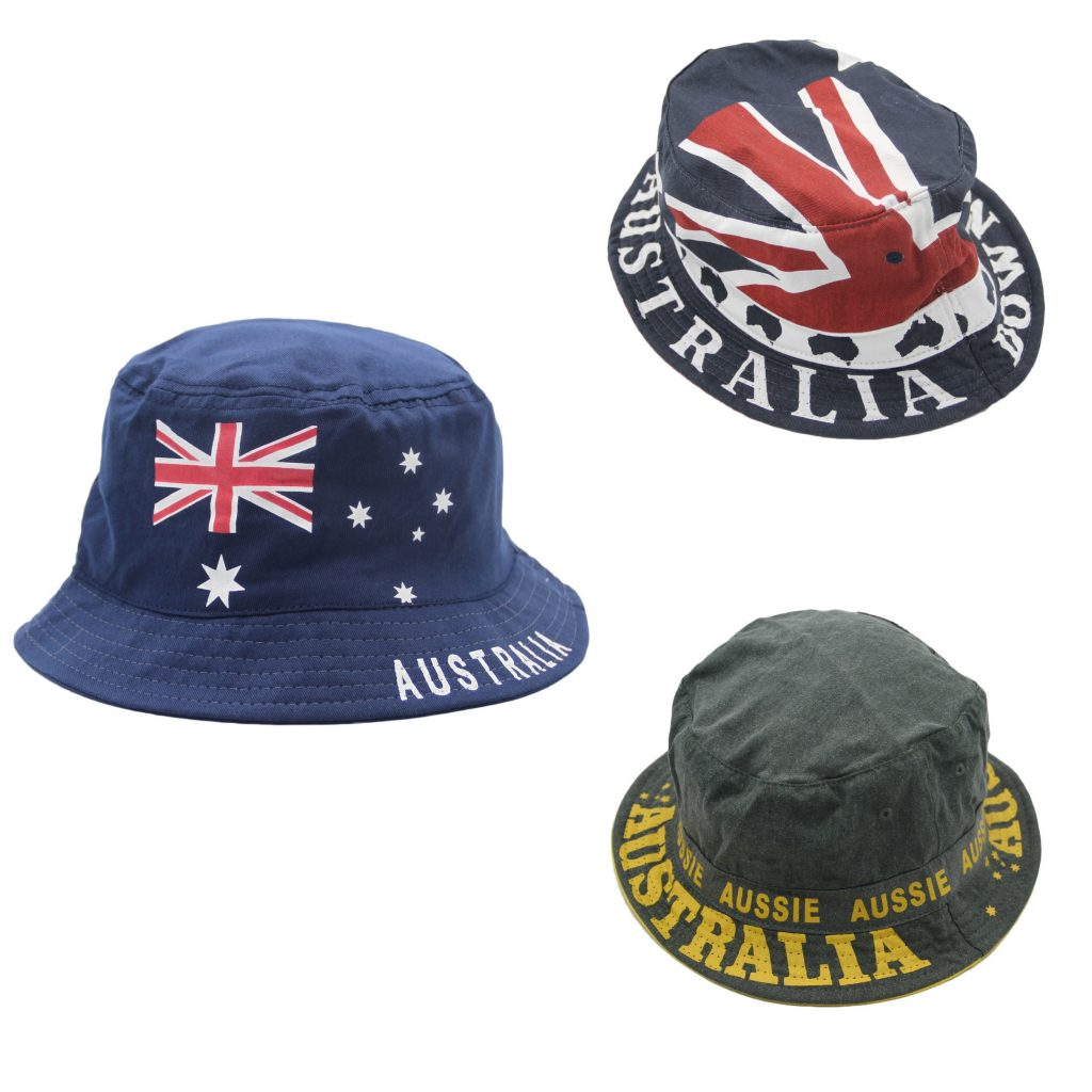 a144c6f711f Australia ANZAC Day Souvenir Flag Sun Protection Cotton Bucket Hat Costume  Dress • Zmart Australia