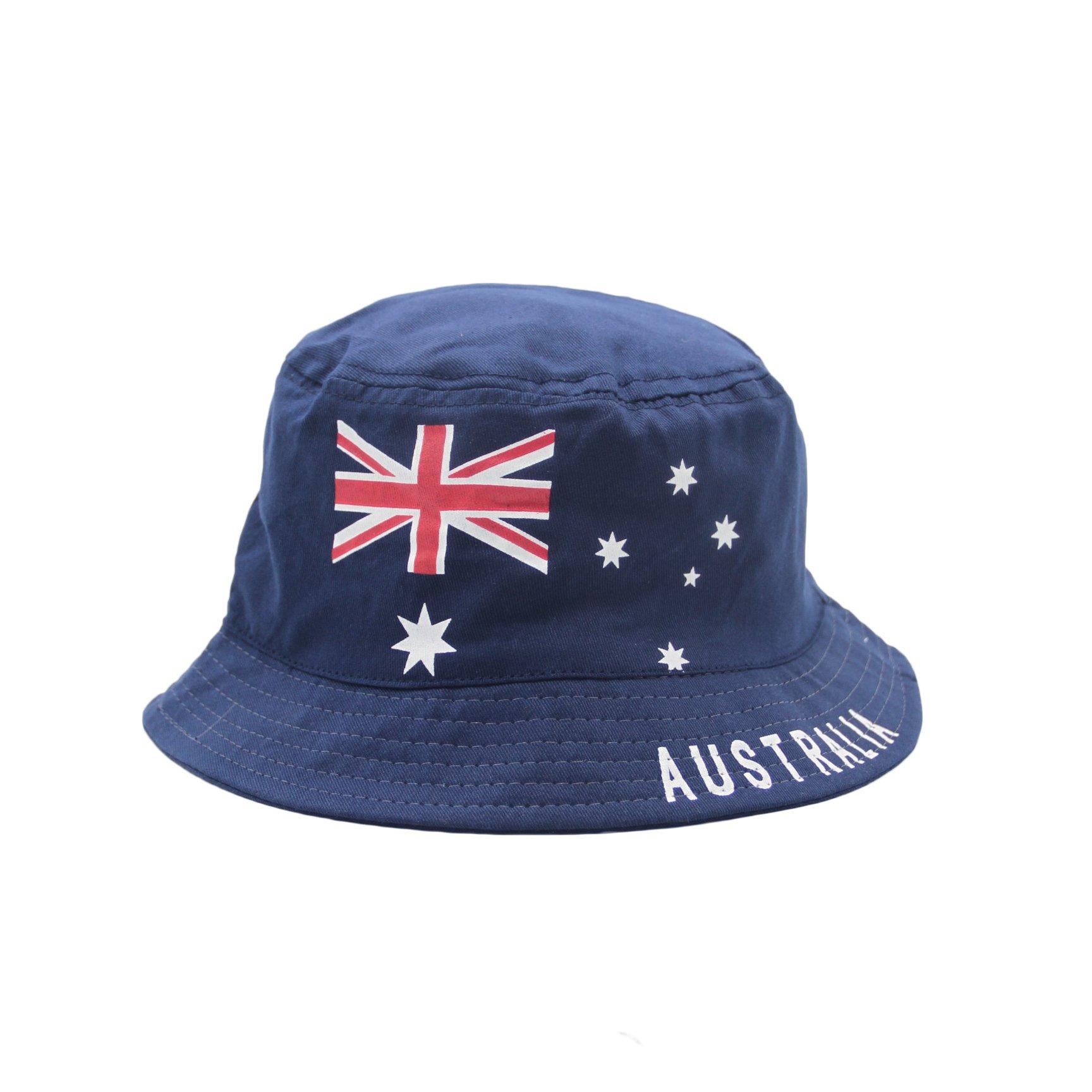 108c8470d7c Australia ANZAC Day Souvenir Flag Sun Protection Cotton Bucket Hat Costume  Dress
