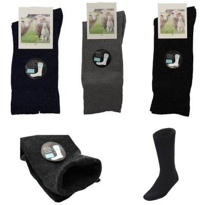 6x Merino Wool Loose Diabetic Top Thermal Socks Medical Wide Comfort Circulation